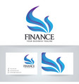 finance logo design vector image