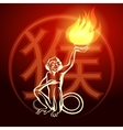 Fire Monkey Symbol vector image vector image