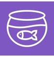 Fish in Tank vector image