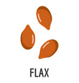 flax icon flat style vector image