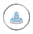 Fountain icon in cartoon style isolated on white vector image