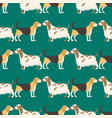 funny cartoon dog character bread seamless pattern vector image