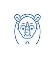 funny rhino line icon concept funny rhino flat vector image