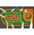 Game Of Roulette Top View vector image vector image
