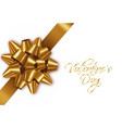 golden bow realistic special valentine day vector image