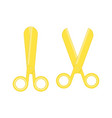 golden scissors vector image
