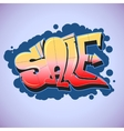 Graffiti style sale inscription urban art vector image vector image