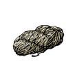 hand spun twisted yarn of grey wool farm product vector image vector image