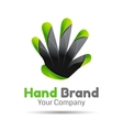 Hands holding something concept Creative vector image