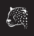 image of an cheetah face on black background vector image