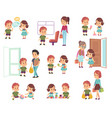kids good manners polite children in different vector image vector image