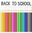 Modern school background with color pencil vector image vector image