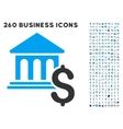 Pay Museum Icon with Flat Set vector image