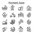 payment icon set in thin line style vector image vector image