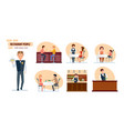 people friends bartender waiter mom child vector image