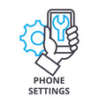 phone settings thin line icon sign symbol vector image vector image