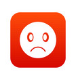 sad emoticon digital red vector image