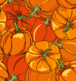 Seamless pattern of pumpkins vector image