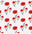 seamless pattern with poppy abstract floral print vector image vector image