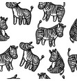 seamless pattern with wild animal zebra print vector image