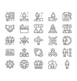 set human resources line icons employee vector image vector image