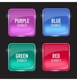 Set of glass purple red green and blue banners vector image vector image