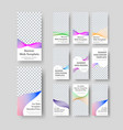 set vertical white web banner templates vector image