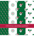set winter holidays seamless patterns merry vector image vector image