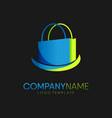 shopping logo design vector image vector image