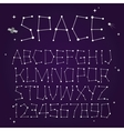 space font vector image vector image
