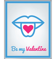 stValentine icons card 5 vector image