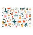 summer nature graphic elements vector image