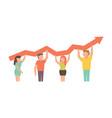teamwork for business design vector image