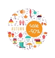Template of autumn vector image vector image