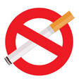 the sign no smoking on white vector image vector image
