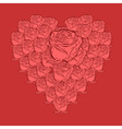 vector roses in heart shape vector image vector image