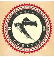 Vintage label-sticker cards of Croatia vector image vector image