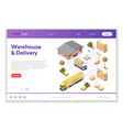 warehouse storage and delivery isometric vector image