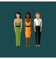 women appearance icons people flat icons vector image vector image