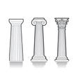 Stylized Greek columns vector image