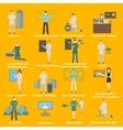 Future professions set Futuristic occupation vector image