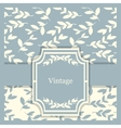 vintage invitation card with floral vector image