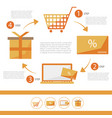 e-commerce infographic flat set - discount card - vector image