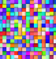 Abstract colorful background with squares vector image vector image