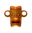 ancient africa pagan idol mask isolated on white vector image vector image