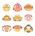 Bakery Colorful Flat Emblems vector image