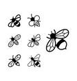 bee icon design set bundle template isolated