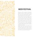 beer fest line pattern concept vector image vector image