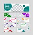 big set horizontal white web banners with vector image vector image