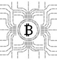 bitcoin and binary data streams vector image